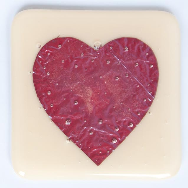 Fused Glass Heart Valentines